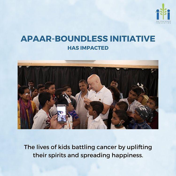 Apaar boundless initiative by Anupam kher foundation