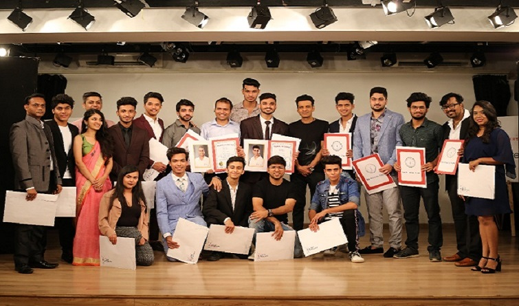 Manoj Bajpayee awards the Actor Prepares Diploma to Graduating Actors